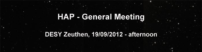 HAP - General Meeting