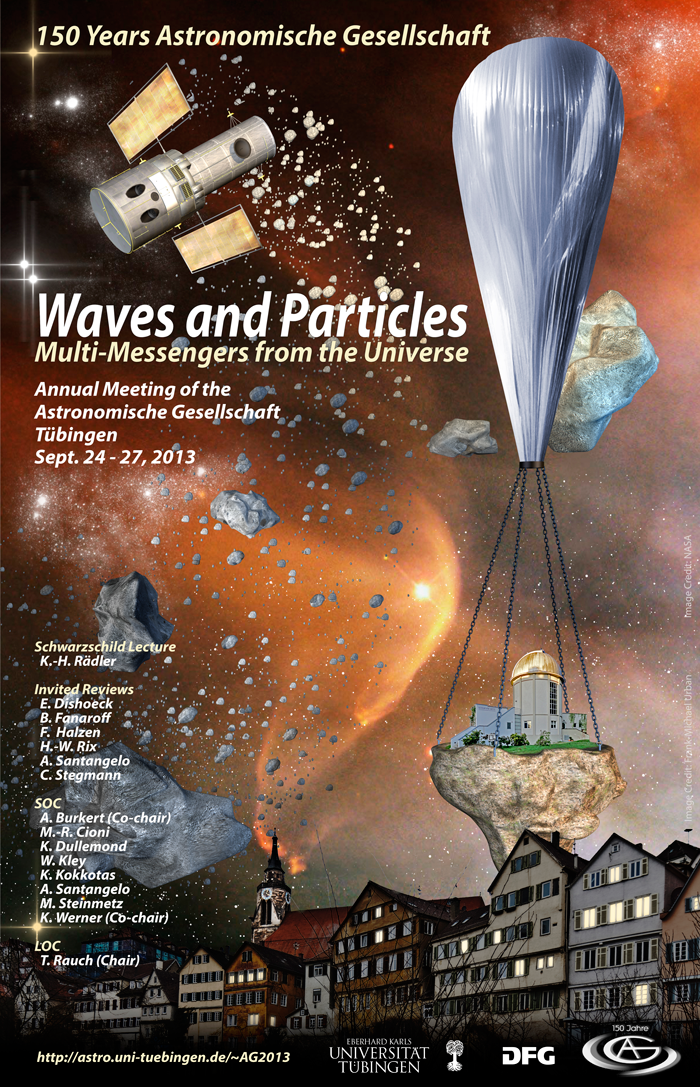 "Fall Meeting of the Astronomische Gesellschaft 2013 ""Waves and Particles: Multi-Messengers from the Universe"""
