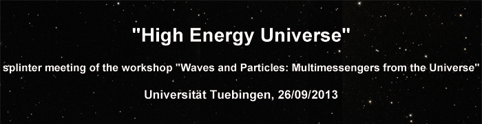 "Splinter meeting ""High Energy Universe"""