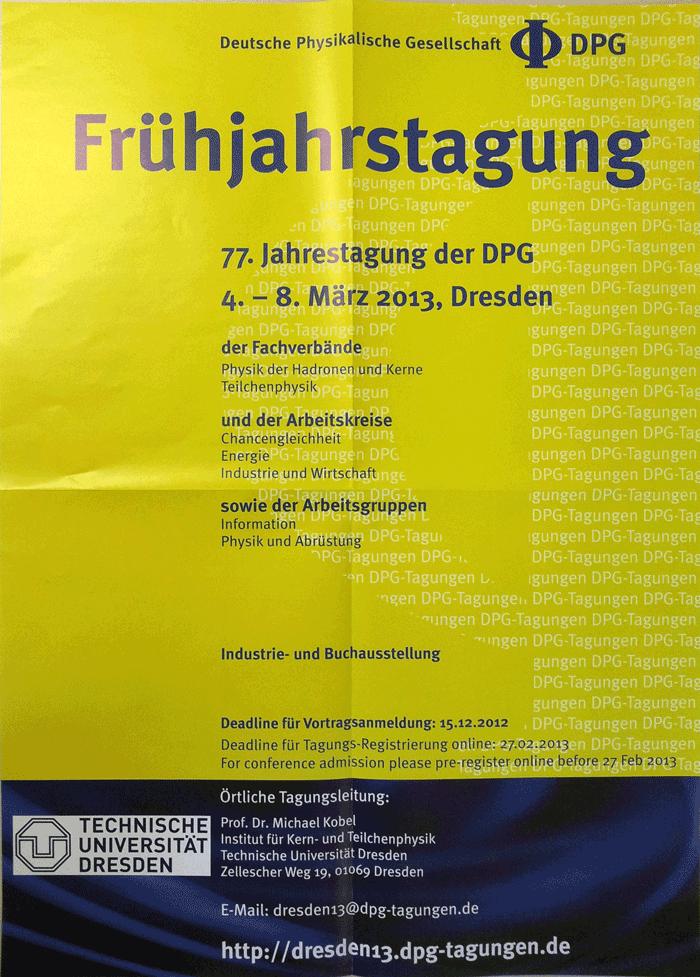 DPG 2013 - Dresden